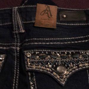 Antique River Jeans - Antique Rivet Dk Blue Boot Cut Women's Jeans Sz 26